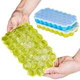 Ice Cube Trays Ice Cube Mold Ninonly 2 Pack 74 Cubes Silicone Ice