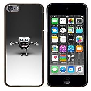 GIFT CHOICE / Teléfono Estuche protector Duro Cáscara Funda Cubierta Caso / Hard Case for Apple iPod Touch 6 6th Touch6 // Funny Tooth //