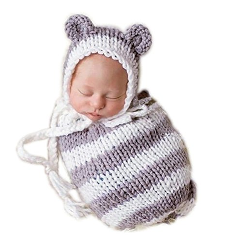 Fashion Cute Unisex Newborn Boys Girls Baby Outfits Photography Props Bear Sleeping Bag