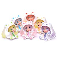 zhengge Mini Cute Dolls. Cute Anime Figures. Car Decorations. Home Decorations (Six Colors)