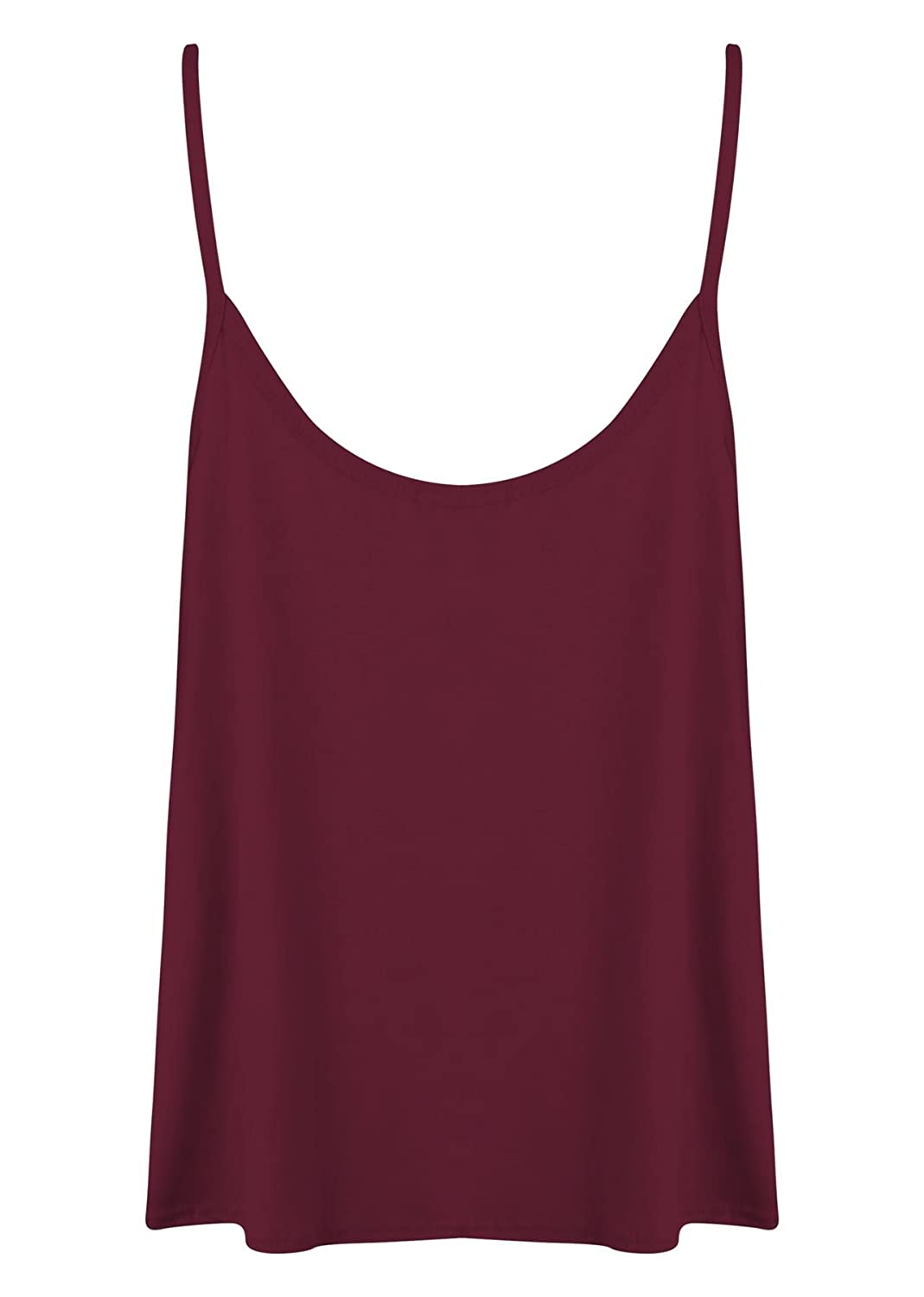 d6183307c18 Outofgas Womens Ladies Plain Plus Size Sleeveless Swing Vest Strap Cami  Camisole Tank Top at Amazon Women s Clothing store