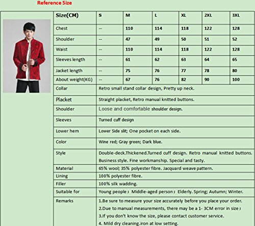 Wool Tang Suits Retro Jackets cotton-padded jacket Business Jackets Full Dress by Winter Tang Suit (Image #7)