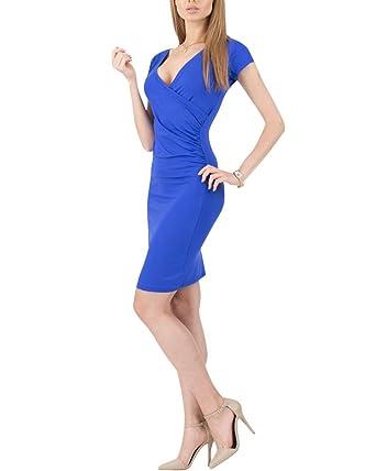 Moollyfox Mujer Vestido Estilo Jersey Corto Manga V Cuello