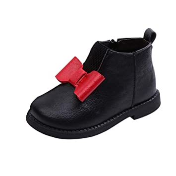 Girl Kid Infant Toddler Child Winter Bowknot Wellington Chelsea Boots Shoes Size