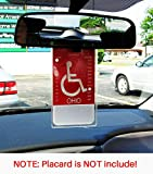 Handicap Parking Placard Holder, Ultra Transparent