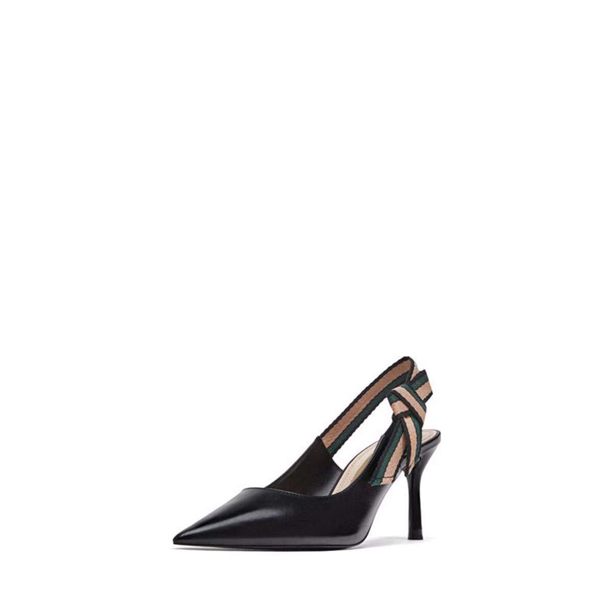 HBDLH Damenschuhe Mode Spitze 6 cm Heel Gut Bei Fuß Leder Schuhe