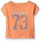 Levi's Girls' Toddler Short Sleeve Boxy Graphic Tee, Desert Flower, 3T