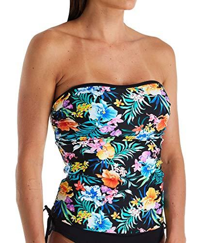Pour Moi Miami Brights Bandeau Underwire Tankini Swim Top (14108) 36G/Multi