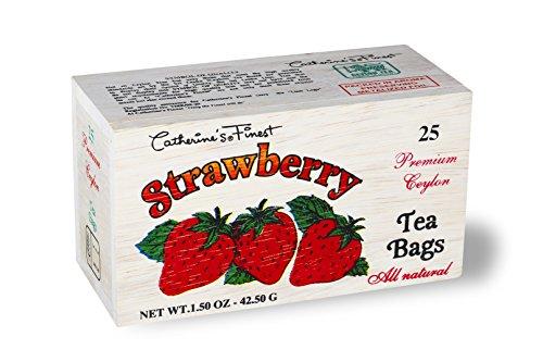 Ceylon Teas Strawberry Tea - Catherine's Finest Ceylon Tea in Wooden Box, Strawberry