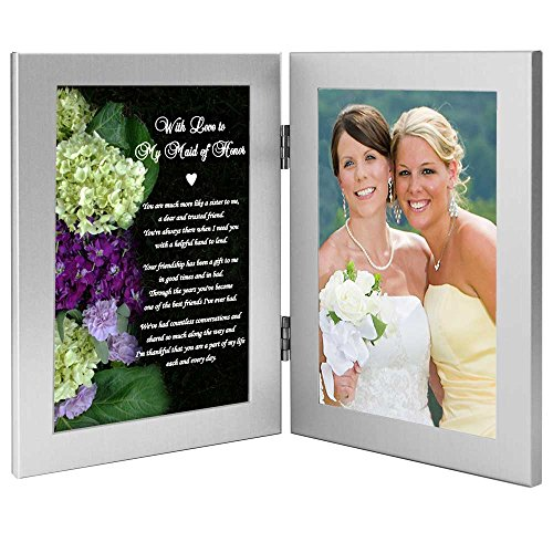 Thank You Wedding Gift, with Love to My Maid of Honor Poem Frame - Add Photo