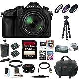 Panasonic LUMIX DMC-FZ1000 16X Long Zoom Digital Camera (Black) (Gold Bundle)