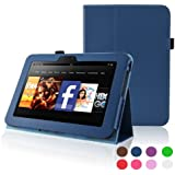 Kindle Fire HD 7 (2012 Version) Case - ACdream Amazon Kindle Fire HD7 (2012 Previous Model) Case - PU Leather Cover Case for Kindle Fire HD 7(2012 Version) with Auto Sleep Wake Function , Stand Case - Dark Blue