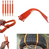 Eddofit Tire Chains Fat Snow Bicycle Trailer Chain for Women Snow Chain Emergency for Car/Vehicle/Truck/Motorcycle/Autobike- Set of 10Pcs
