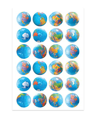 Hygloss Products Globe Themed Stickers 3/Pkg by Hygloss (Image #2)