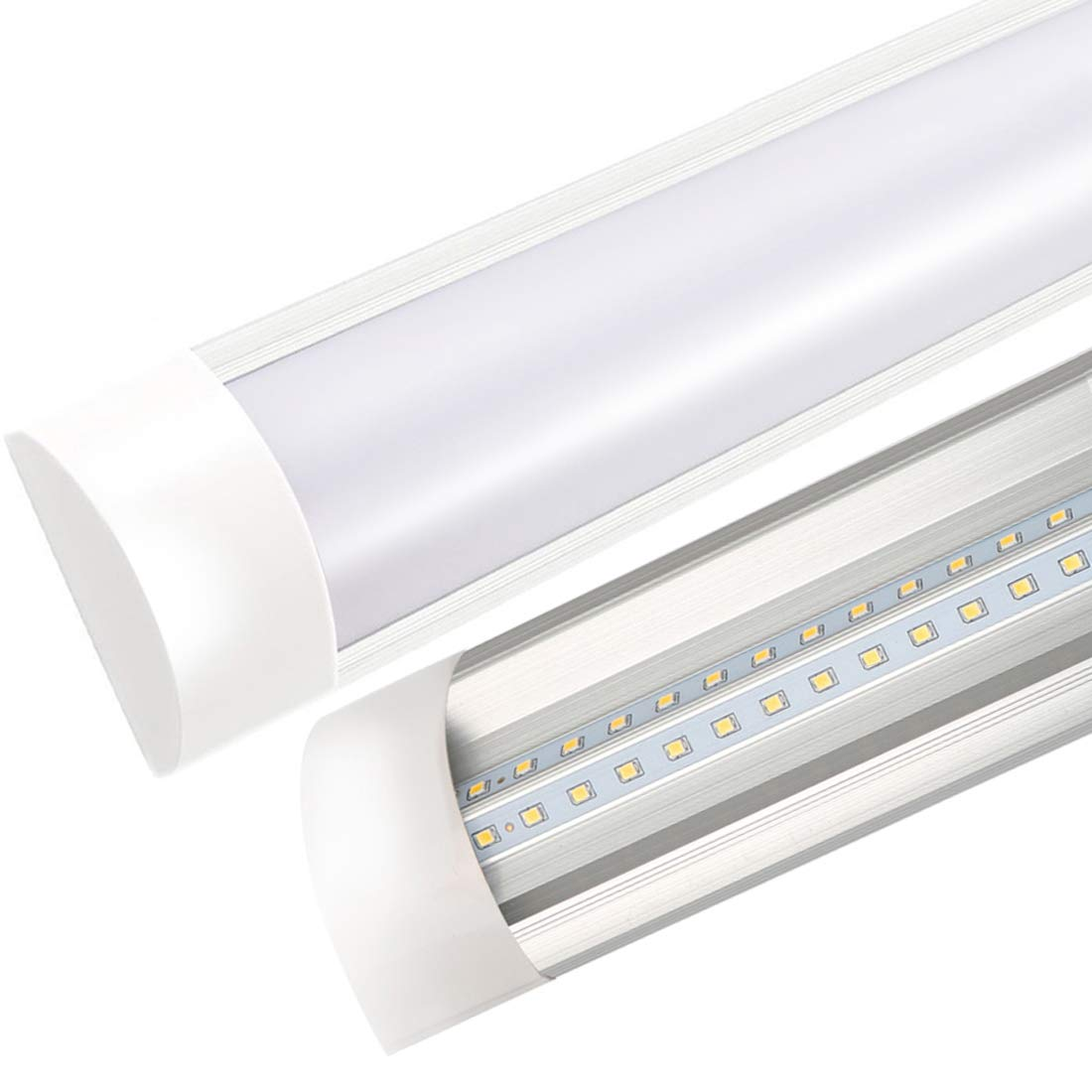 3FT LED Batten Light T10 Integrated Tube Lamp 3000K Wall Lamps with Dust Cover Chandelier Energy Saving Super Bright Strip Lights Lighting Factories Workshop Bathroom Balcony Hallway Living Room Bedroom Dining Room Kitchen Supermarkets 30W 1pc XYD