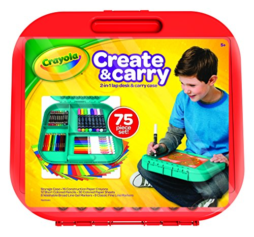 Crayola Create 'n Carry Case, Portable Art Tools Kit, Over 75 Pieces, (Portable Art)