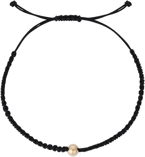 Trendy Womens/' Sophisticated Braided Silk String Fashion Click Closure Bracelet