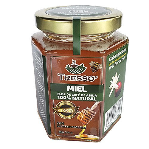 Tresso - Miel Artesanal de Flor de Café 100% Natural, 370 g