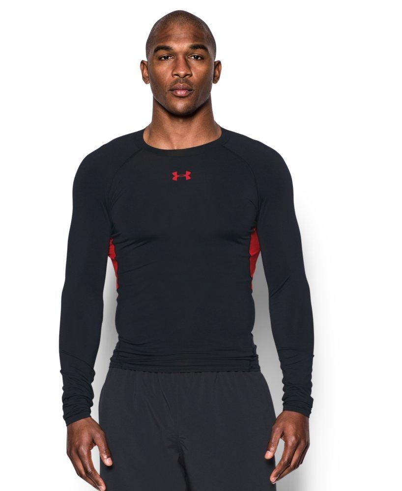 5910ee69 Galleon - Under Armour Men's HeatGear Armour Long Sleeve Compression Shirt,  Black , 3X-Large