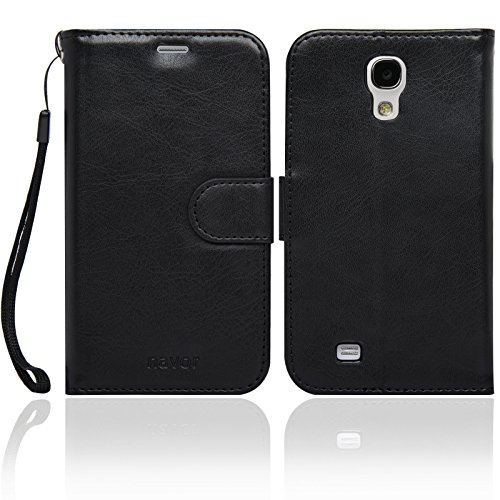 Navor Protective Flip Wallet Case for Samsung Galaxy S4 - Black (S4O-BK) by navor (Image #1)