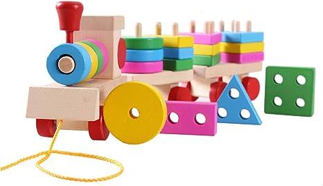 LIPETLI Puzzle Small Train Torre Tradicional Jenga Juguetes Torre Bloques Juguete Habilidad Educativo Juego Equilibrio Torre Madera Apilamiento Bloques Madera Niños Family: Amazon.es: Deportes y aire libre