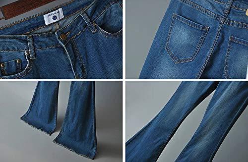 Skinny Femmes pour Long Elasticity Clair hellomiko Pantalon Bleu vas Jeans 5xHZSwTw0n
