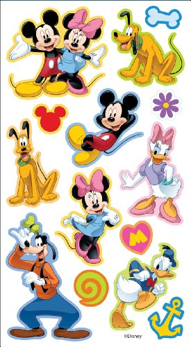 Disney Puffy Stickers, Mickey and Friends (Mouse Minnie Dimensional Stickers)