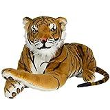 Best Choice Products Tiger Plush Animal Realistic Big Cat Orange Bengal Soft Stuffed Toy Pillow, Orange, Large