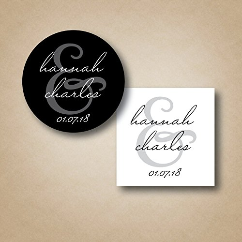 Custom Wedding Favor Stickers - Choice of Size, Shape, and -