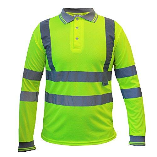 Fermeture Haute Éclair Nonzip Tshirt Yellow tect Visibilité Capuche Sweat ® À Pro Longsleeve wqxCFaI6I