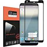 For Google Pixel 2 XL Tempered Glass Screen Protector ,Acoverbest 9H [Case Friendly][HD Anti-Fingerprint] [Bubble Free] [Scratch Proof] Screen Protector for Google Pixel2 XL Black