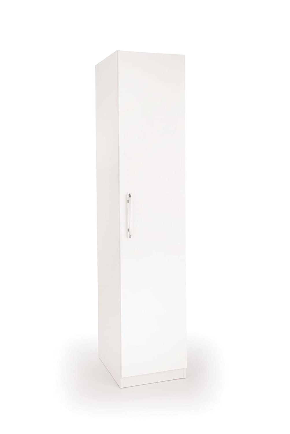 Acton 1 Door Wardrobe, Wood, White/White Harmony H151216