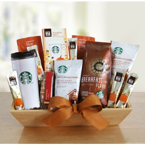 Fall Splendor! Starbucks Coffee Fall Thanksgiving Gourmet Gift Basket