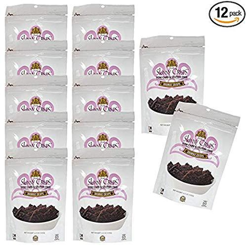 Skinny Crisps Brownie Gluten Free Crackers (Pack of 12) by Skinny Crisps