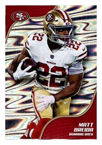 2019 Panini NFL Stickers Football #512 Matt Breida San Francisco 49ers Official Sticker Collection Collectible (paper thin and small size) from Panini NFL Sticker Collection Cards