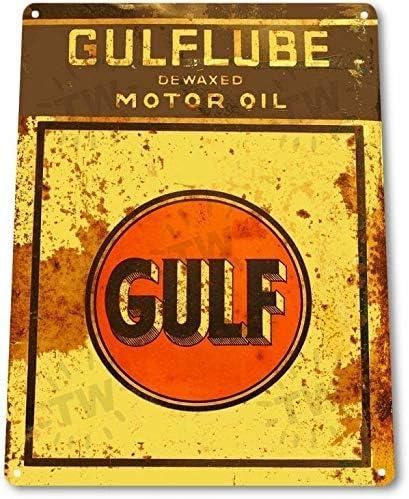 Hess Motor Oil Gas Station Logo Garage Service Retro Wall Decor Metal Tin Sign