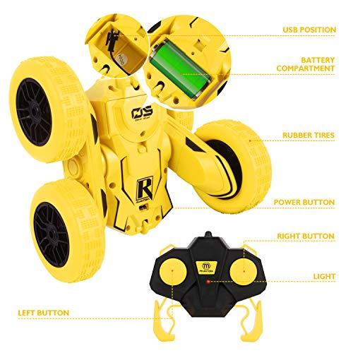 Peradix RC Voiture Télécommandée Voiture Jouets pour Enfant Voitures en 2WD 2.4 GHz Mode 360° Tournant avec Télécommande, Stunt Car Voiture Radiocommandee Voiture de Cadeaux Anniversaire Garçon Fille
