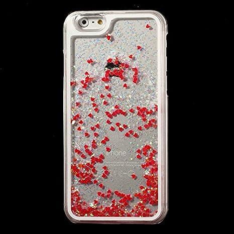 iPhone 6 4.7 Coque dynamique, cœur à paillettes liquide en ...