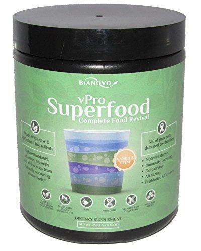 (Bianovo Nutrition vPro Superfood, Best Tasting Premium Greens Powder, Vanilla Chai Matcha Green Tea Flavor, 31 serving size bottle (1))