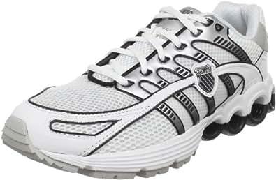 K-Swiss Men's Super Tubes Run 50 Running Shoe, White/Black/Silver, 11.5