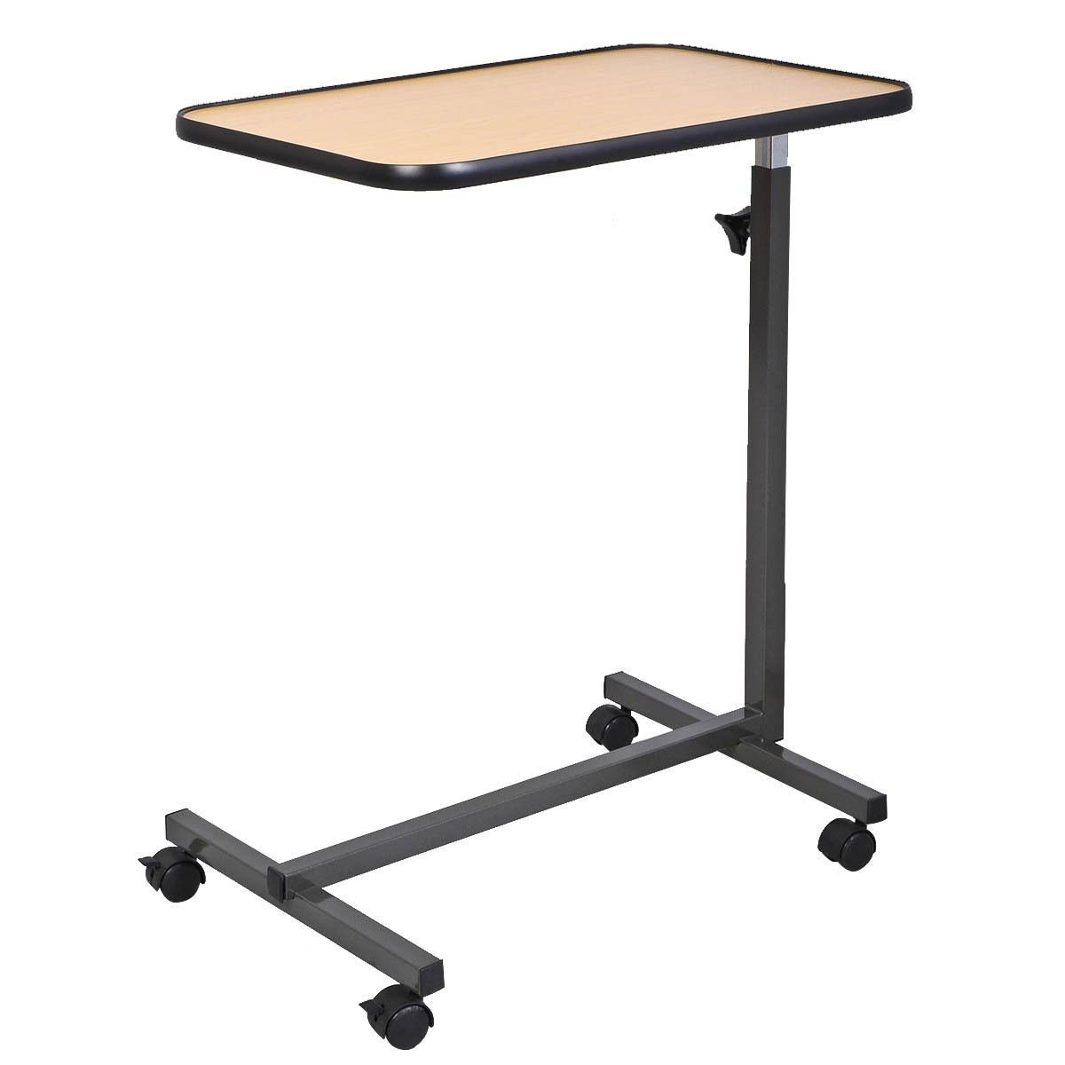 Amazon.com: Overbed Laptop Food Tray Table Rolling Desk Hospital Over Bed  With Tilting Top: Kitchen U0026 Dining