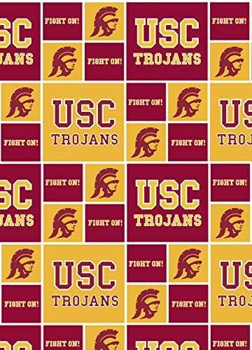 University of Southern California Fine Cotton Classic Geometric by Field's Fabrics