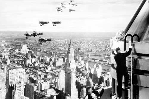 King Kong Empire State Building New York City Skyline vintage planes 24x36 Poster -