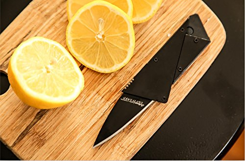 Holtzman's Credit Card Knife #1 Best Wallet Knife (Black)