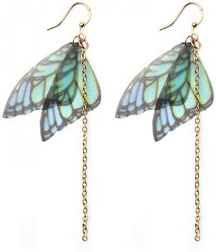 Acrylic 3 inch BUTTERFLY Rhinestone//Beads Necklace//Earrings-18 inches