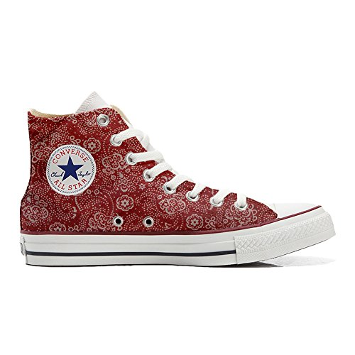 Red Star personalisierte Converse All Handwerk Schuhe Schuhe Hi Paisley Customized 4UwRwOx