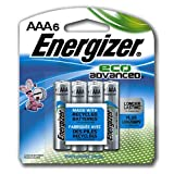 Energizer Holdings EVEXR92BP6 EcoAdvanced AAA Batteries
