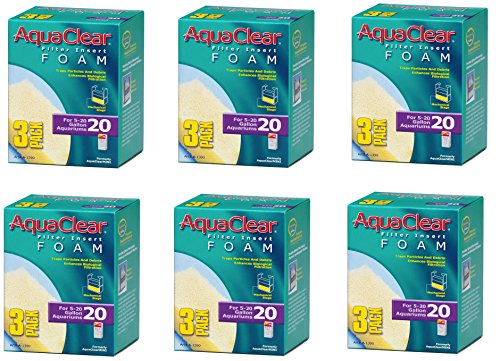 (6 Pack) Aquaclear 20-gallon Foam Inserts, 3 Inserts each ()