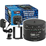 Vidpro MH-360 360-Degree Time Lapse Photography Pan Head with iPhone/ Smartphone Holder & Adapter for GoPro Cameras