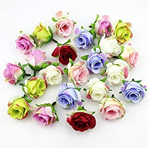 Flower Head in Bulk Wholesale for Crafts Artificial Silk Rose Fake Scrapbooking Flowers Ball DIY Party Festival Home Decor Wedding Decoration 30pieces 3-4cm 103